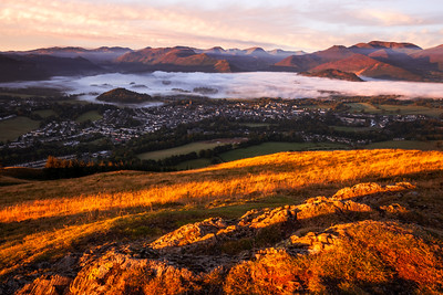 Sunrise Glow, Latrigg, Keswick, Lake District, Cumbria, England