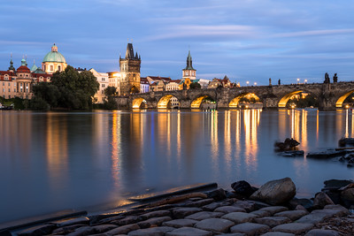 Skyline, Charles Bridge, Prague, Czechia