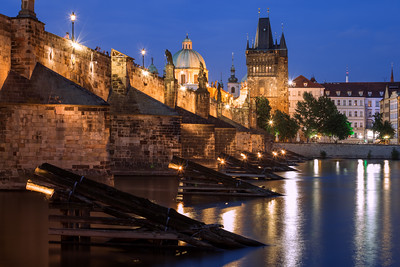 Blue Hour, Charles Bridge, Prague, Czechia