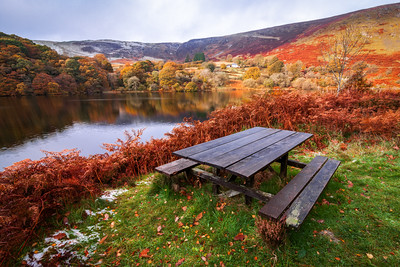 Picnic Bench at the Elan Valley, Rhayader, Wales