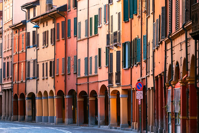 Sunrise, Colourful Houses, Bologna, Italy
