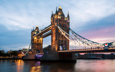 Sunrise at Tower Bridge, London, England