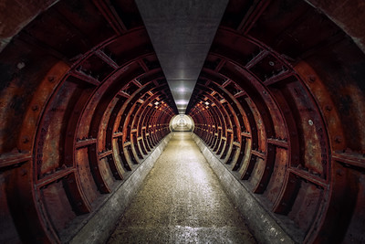 Greenwich Foot Tunnel, Under the River Thames, London, England