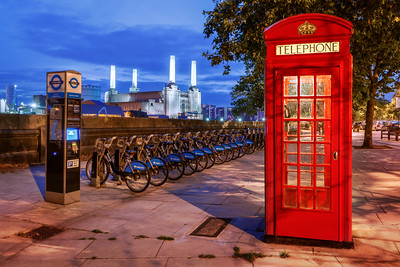 Red Phone Box, Battersea Power Station, London, England