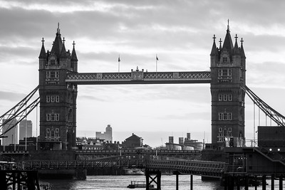 Black and White, Tower Bridge, London, England