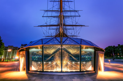 Blue Hour, Cutty Sark, Greenwich, London, England