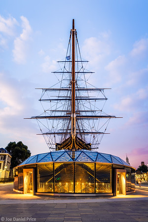 Sunrise, Cutty Sark, Greenwich, London, England