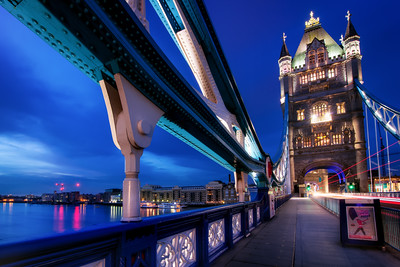 Early Morning at Tower Bridge, London, England