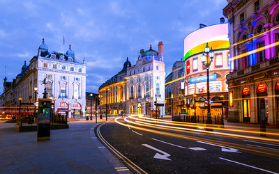 Neon Signs, Piccadilly Circus, London, England
