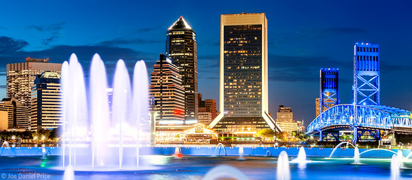 Friendship Fountain, Jacksonville, Florida, America