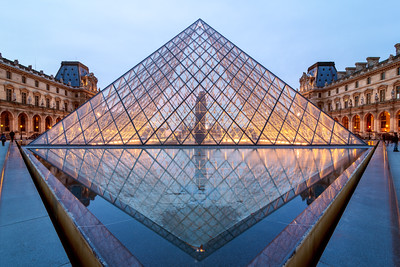 Glass Pyramid, Louvre Museum, Paris, France