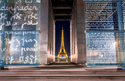The Peace Wall, Eiffel Tower, Paris, France