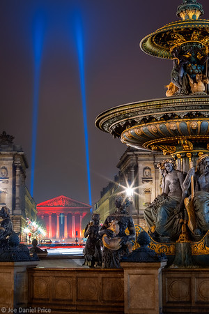 Fountains and La Madeleine Church, Paris, France