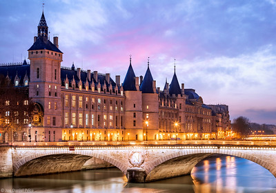 Sunset, La Conciergerie, Paris, France