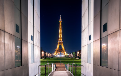 Framed, Eiffel Tower, Paris, France