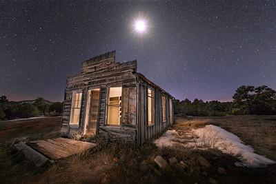 Jicarilla General Store In The Moonlight
