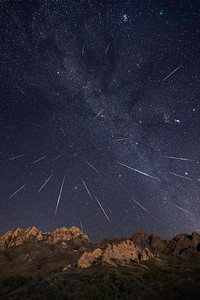 Geminid Meteor Shower Over the Organs 2018