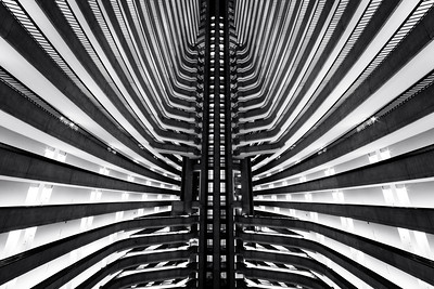 Black and White, Atlanta Marriott Marquis, Atlanta, Georgia, America