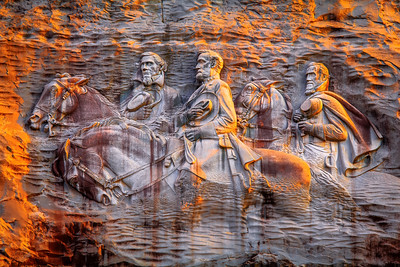 Stone Carving, Stone Mountain, Atlanta, Georgia, America