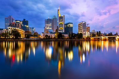 Early Morning, Skyline, Frankfurt, Germany