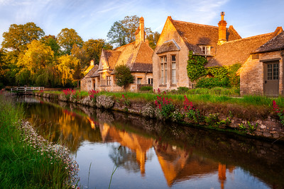 Reflections at Lower Slaughter, Cotswolds, England