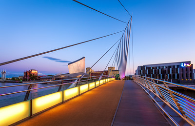 Swing Bridge, Imperial War Museum North, Itv Studios, Salford Quays, Manchester, England