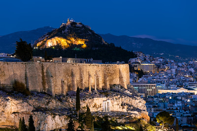 Mount Lycabettus, Blue Hour, Athens, Greece