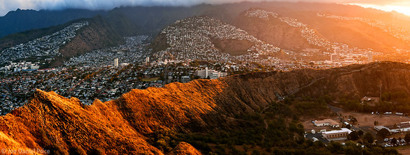 Diamond Head Crater, Honolulu, Waikiki, Oahu, Hawaii, America