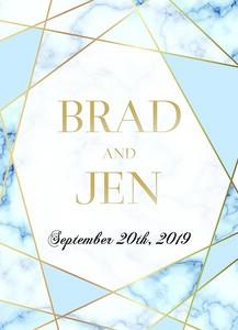 Marble Wedding Card 3 print