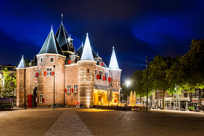 Night, De Waag, Amsterdam, Holland