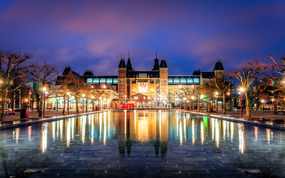 Sunrise at the Rijksmuseum, Amsterdam, Holland