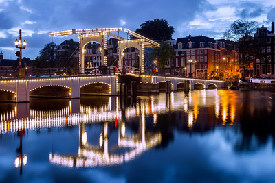 Magere Brug, Amsterdam, Holland