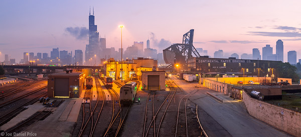 W18th Street Bridge, Train Tracks, Chicago, Illinois, America