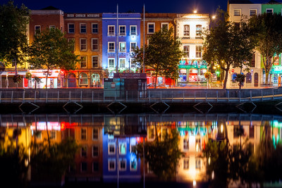 Colourful Houses in Dublin, Ireland