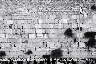 Black and White, Western Wall, Jerusalem, Israel