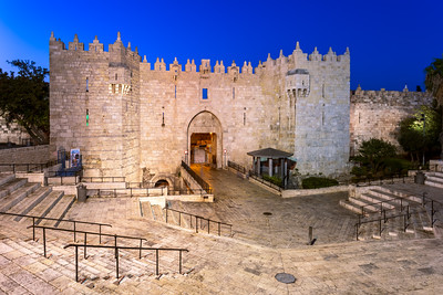 Blue Hour, Damascus Gate, Jerusalem, Israel