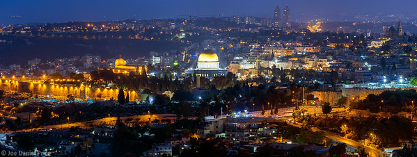Night from Mount Scopus, Jerusalem, Israel