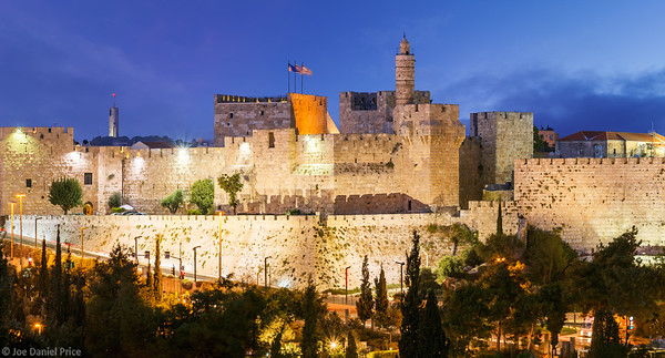 Blue Hour, Tower of David, Jerusalem, Israel