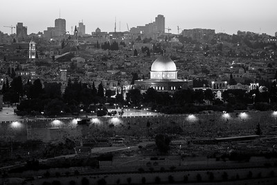 Black and White, Dome of the Rock, Temple Mount, Jerusalem, Israel