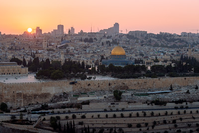 Sunset, Dome of the Rock, Jerusalem, Israel