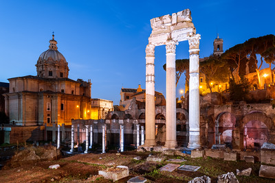 The Roman Forum, Santi Luca e Martina Church, Rome, Italy