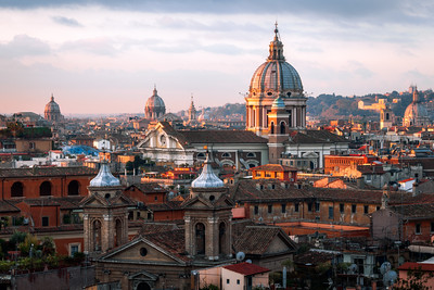 View from Piazza del Popolo, Rome, Italy