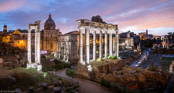 Panoramic, Sunrise, Roman Forum, Rome, Italy