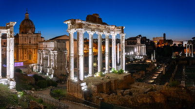Night, Roman Forum, Rome, Italy