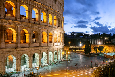 Colosseum, Blue Hour, Rome, Italy
