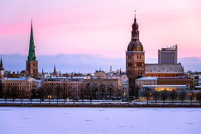 Sunrise, Riga Cathedral, St. Jacob Catholic Cathedral, Riga, Latvia