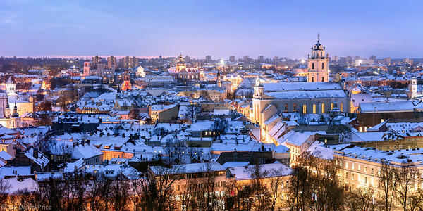 Large Panoramic, Church of St. Johns, St. John the Baptist and St. John the Apostle and Evangelist, Vilnius, Lithuania