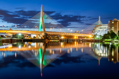 Leonard P. Zakim Bunker Hill Memorial Bridge, Boston, Massachusetts, America
