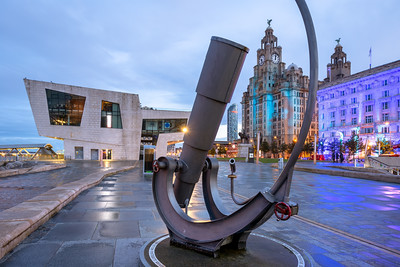 Liver Building, Pier Head Ferry Terminal, Liverpool Waterfront, Liverpool, Merseyside, England
