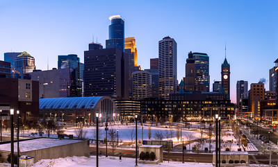 Skyline, The Commons, Minneapolis, Minnesota, America